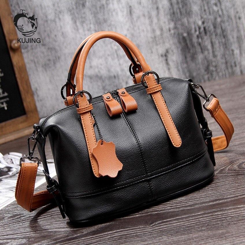 KUJING Fashion Handbag High-end Hit Color Business Women Handbags Cheap Luxury Women Shoulder Messenger Bag Hot Casual Women Bag