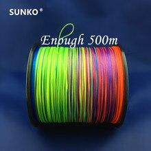 8 fili 300M 500M 1000M SUNKO di Marca Giapponese Multifilamento PE Materiale colorato Intrecciato la Linea di Pesca 15 ~ 140LB