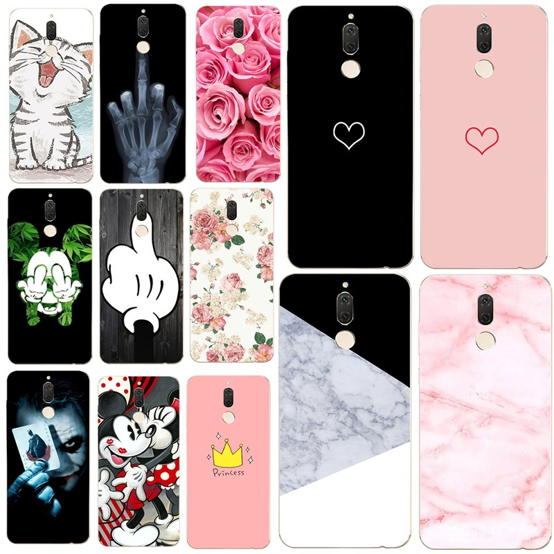 Silicone For Cover Huawei P20 P9 P10 Mate 10 <font><b>Lite</b></font> <font><b>Cartoon</b></font> Flower Phone Case Marble Mickey Soft For Huawei p20 pro p smart Cover image