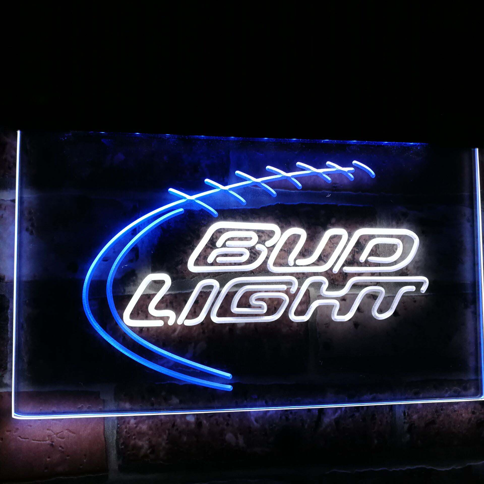 Bud Light Sport Beer Club Bar Decoration Gift Dual Color Led Neon Sign st6 a2004