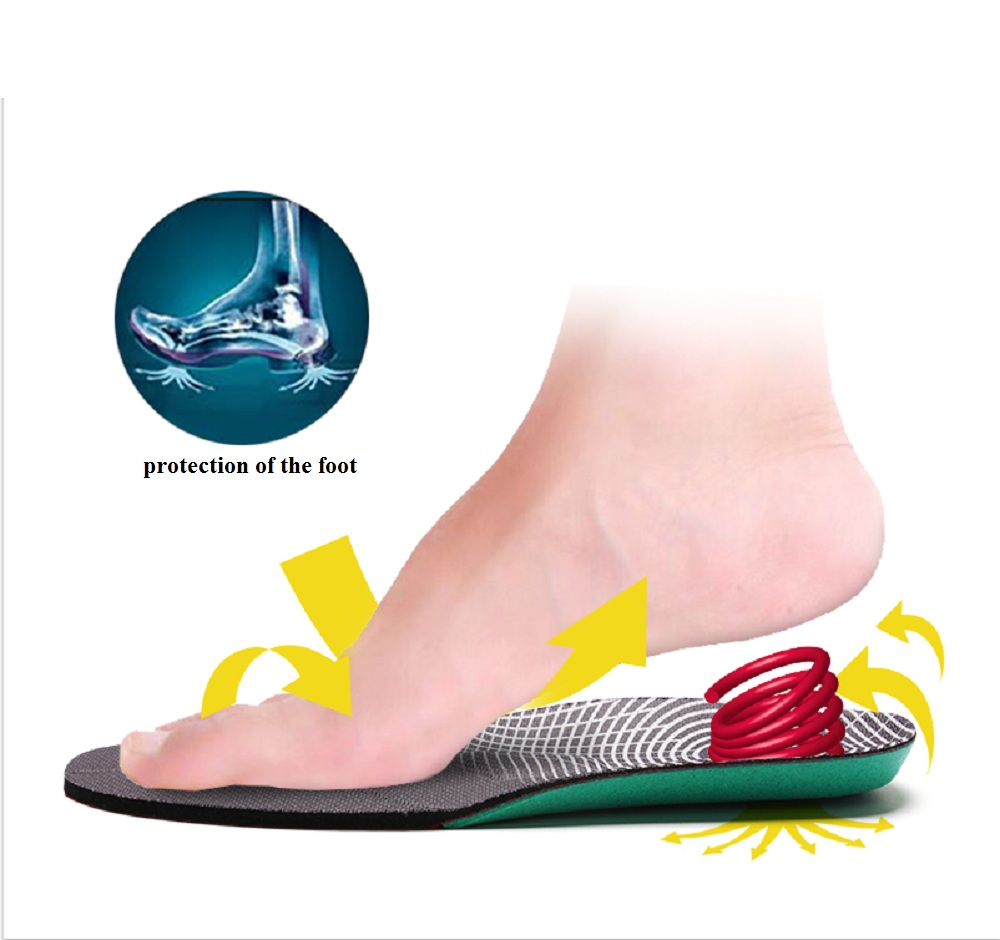 New Summer increase height woman insole High Elasticity Shock Absorption free Clipping Sports Insole Breath Ability sneakers.