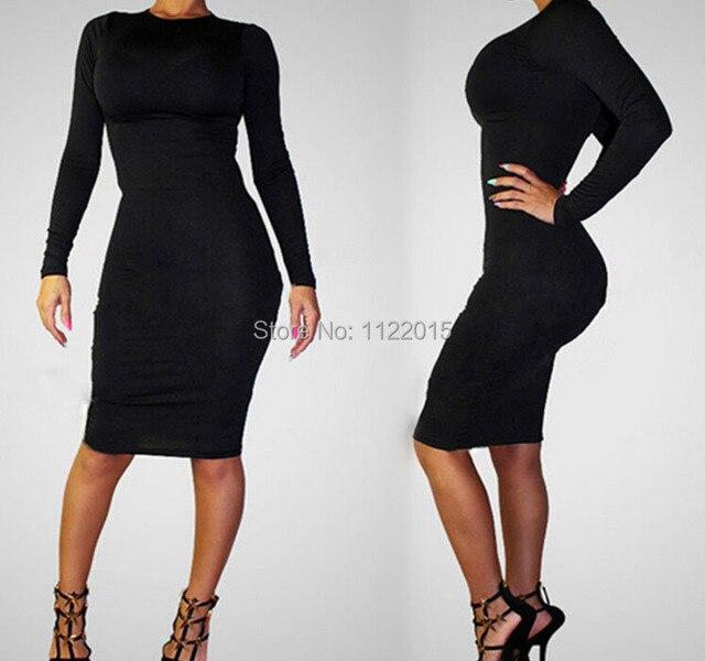 Outfit vestido negro ajustado