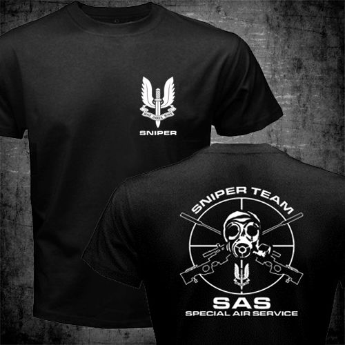 SAS Special Air Service T shirt men two sides British Army Special Forces  Sniper gift casual tee shirt USA size S-3XL 897d3c28fce7