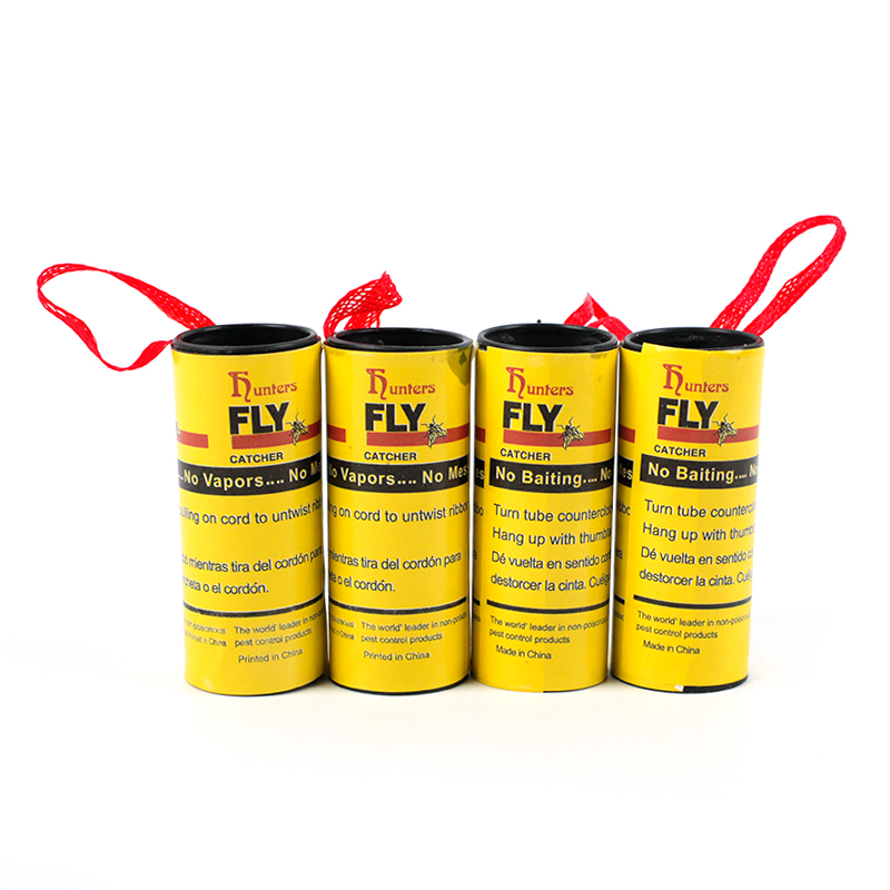 Image 4 - 4 Rolls Fly Glue Paper Pest Control Housefly Killer Insect Bug Catcher Trap Ribbon Strip Sticky Fies Summer Tools-in Traps from Home & Garden