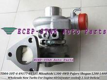 TD04-10T-4 49177-01515 Turbocharger For Mitsubishi Delicia Pajero Shogun L200 L300 L400 4WD 4D56 2.5L water Cooled 5 holes Turbo