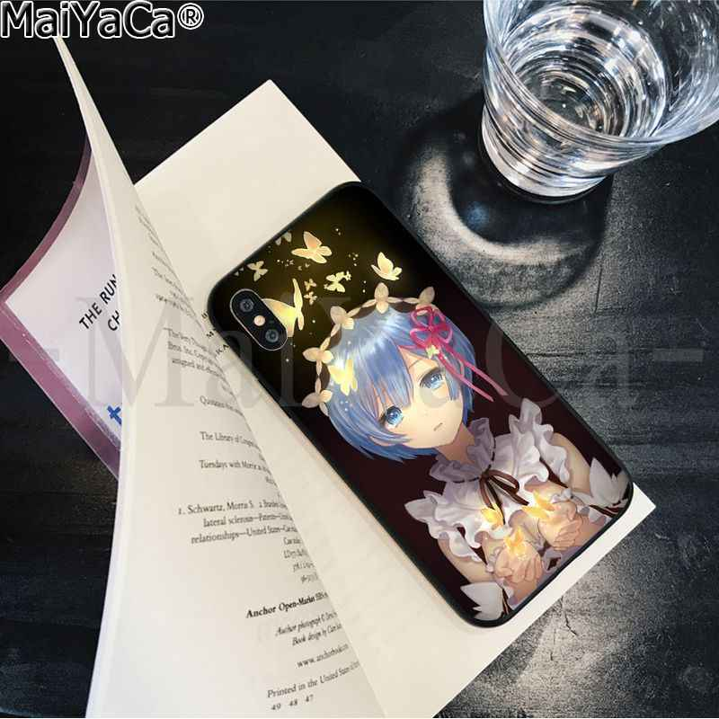 MaiYaCa Re zero Novelty Fundas Phone Case Cover for Apple iPhone 8 7 6 6S Plus X XS MAX 5 5S SE XR Cover