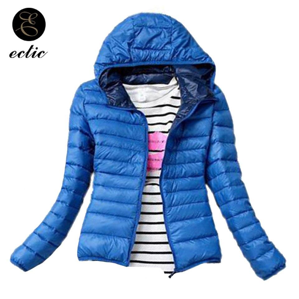 Parkas   Winter 2019 Womens Lightweight Jackets Cappotto Giacca Donna Short Down Jacket Hooded Jumper Warm Puffer Jacket Women 5xl