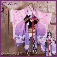 Заклинатель персик SR Ян Yanluo моба кожи Косплэй костюм кимоно рождественские костюмы розовый Униформа кимоно + головной убор + носки