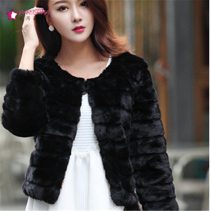 Short Faux Fur Coat Black - Tradingbasis