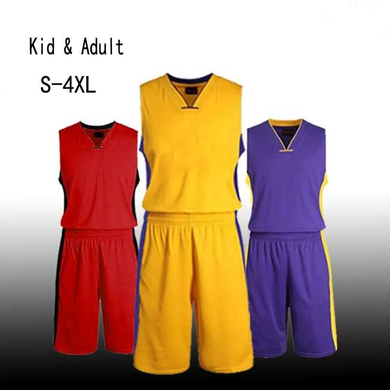 Kids & Adult Goedkope Basketbal Jersey Sets, Jong College Basketbal uniform, Kinderen Mannen Throwback Basketbal Shirt Custom