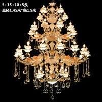 Longree освещения большой свечи люстры свет K9 хрустальные люстры блеск вилла люстры Light Освещение + бесплатная доставка
