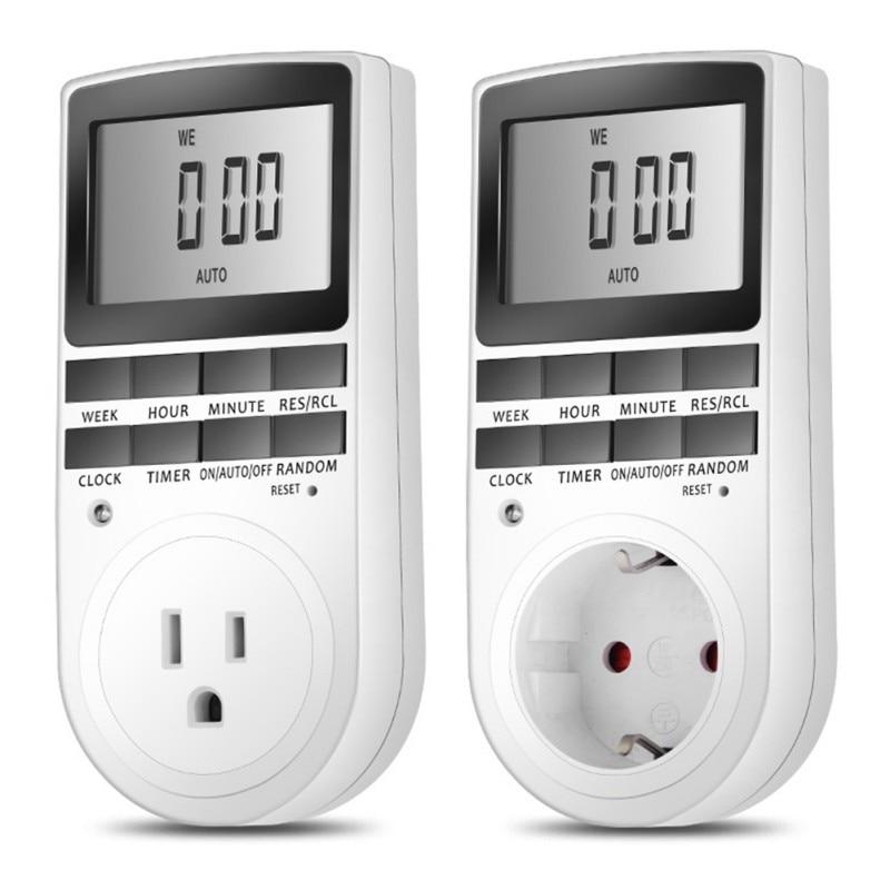 Electronic Digital Timer Switch EU/US Plug Kitchen Timer Outlet 230V 50HZ Programmable Timing Socket