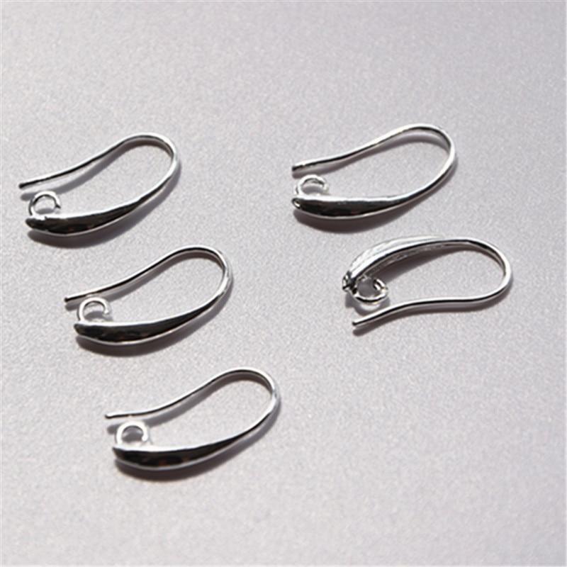 Free 50PCS Wholesale Lot 925 Silver Jewelry Findings 925 Sterling Silver Earring Pinch Hooks Earwire For Crystal Pearl FY-13