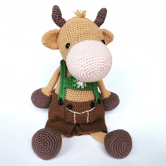 Crochet Toys  Amigurumi  Boy  Or  Girl Cow  Model Number 0920