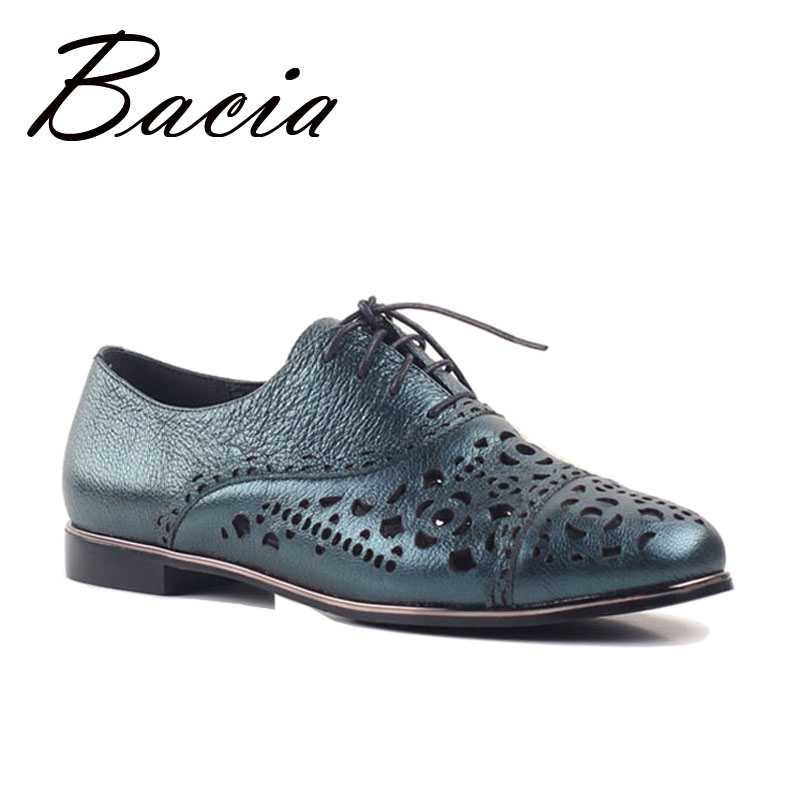 Bacia Fashion Casual Sheepskin Flats Dark Green Hollow Floral Shoes Spring Summer Handmade Women High Quality Soft Flat SA017 шампунь dikson шампунь объем для тонких волос shampoo volume amplificato dikson