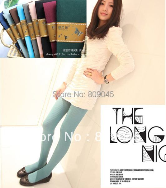 Winter women sexy tights/panty/knitting in stockings trousers panty-Totem fa-Color stripe tights TT027 1pcs