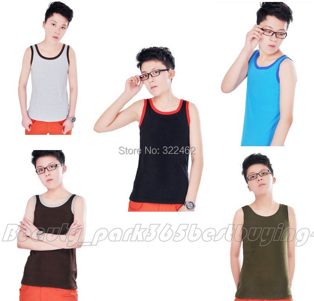 HOT Cotton thread Les Lesbian Tomboy Undershirt Breast Binder Chest Vest Tops Plus Size XS-2XL(SM-0004)