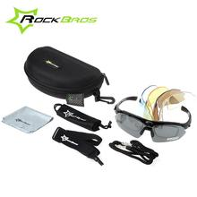 RockBros Polarized TR90 Goggles Eyewear Outdoor Sports Cycling Sun Glasses Bicycle Glasses Bike Sunglasses 5 Lenses