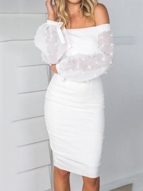 0a392b24bf08f2 Sexy femmes moulante à manches longues Voile maille mince robe soirée  courte Mini robe Sexy femmes