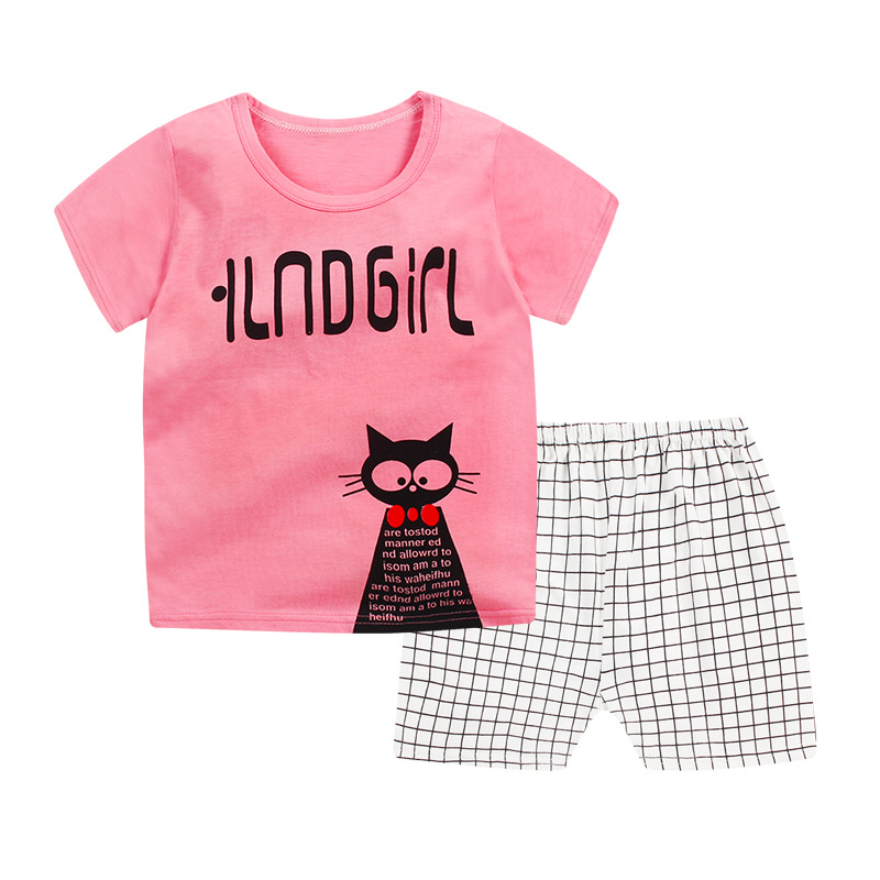 2019 new baby boys clothes quality cotton kids clothing set summer short sleeve children 39 s sets cartoon girls clothes body suit in Clothing Sets from Mother amp Kids