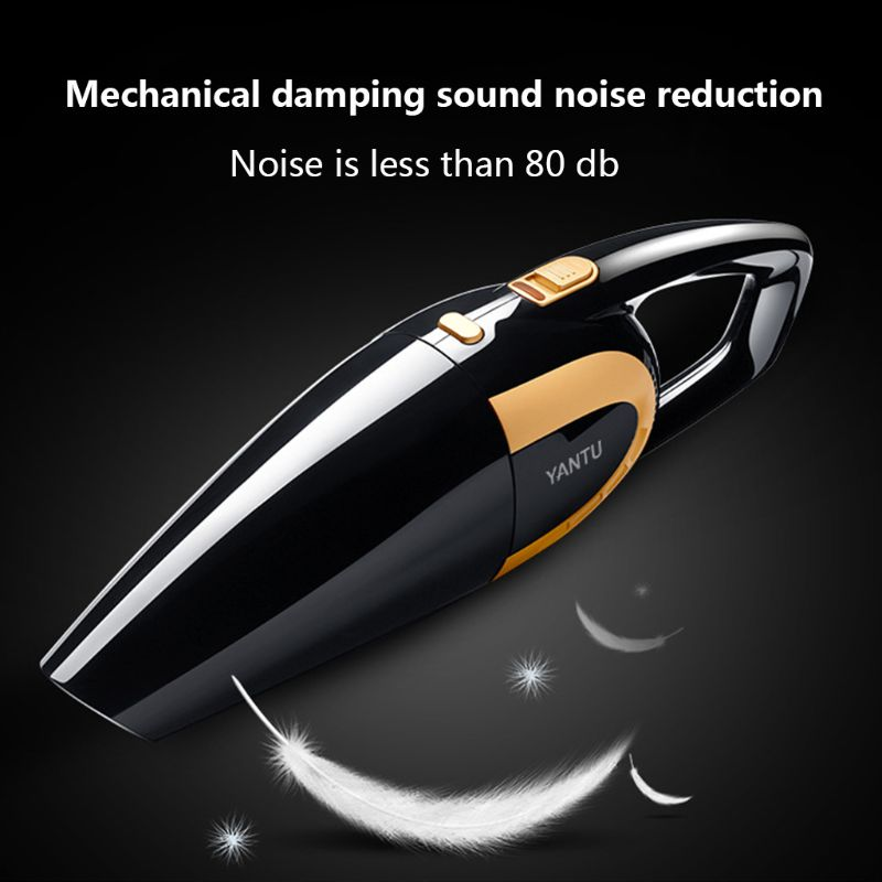 Car Vacuum Cleaner 12V 120W High Powerful 4800pa Wet And Dry Clean Portable Mini Handheld Home Auto Car Electronic Accessories