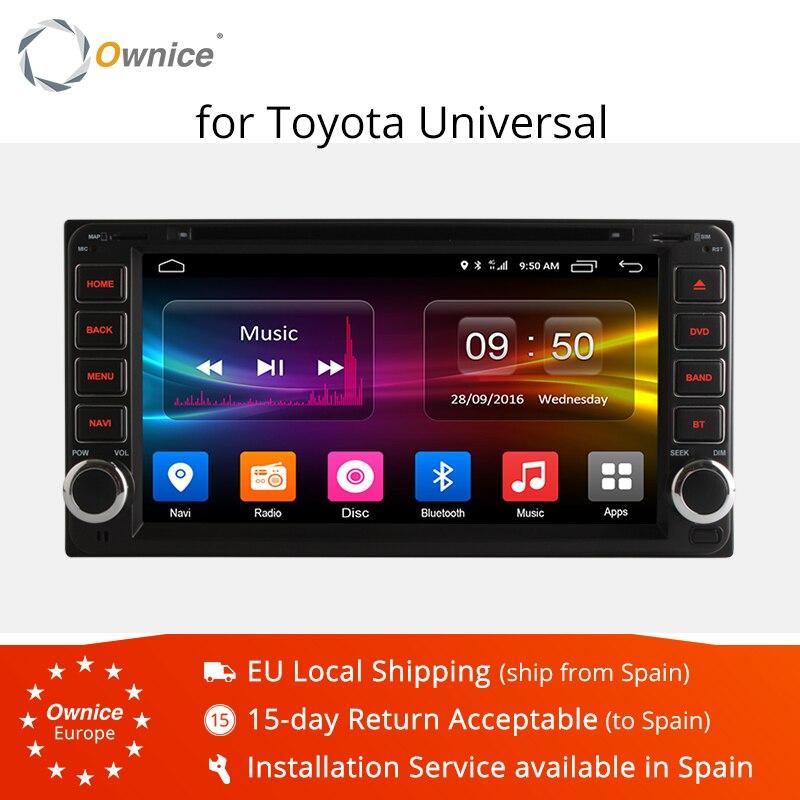 Ownice Android 6.0 Octa 8 Core lecteur DVD de voiture GPS Navi pour Toyota RAV4 2004-2008 Quad Core Radio Support stéréo 4G LTE réseau