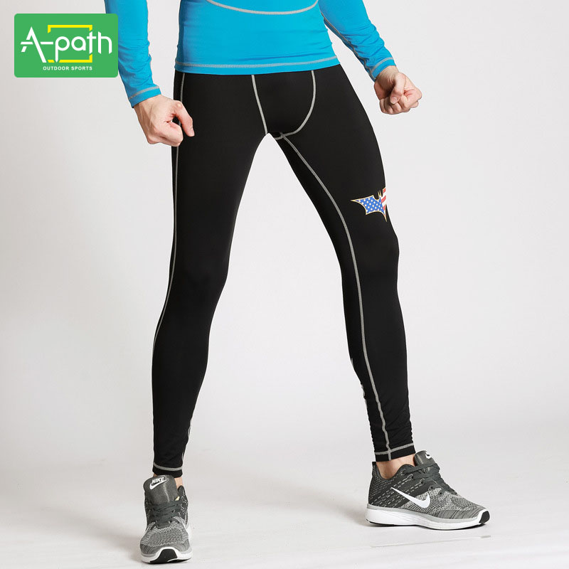 A path Mens Sports font b Fitness b font Crossfit Running Survetement Football 2017 Training Leggings