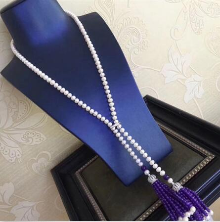 jewelry new style 8 mm south sea long white pearl necklace Christmas giftjewelry new style 8 mm south sea long white pearl necklace Christmas gift