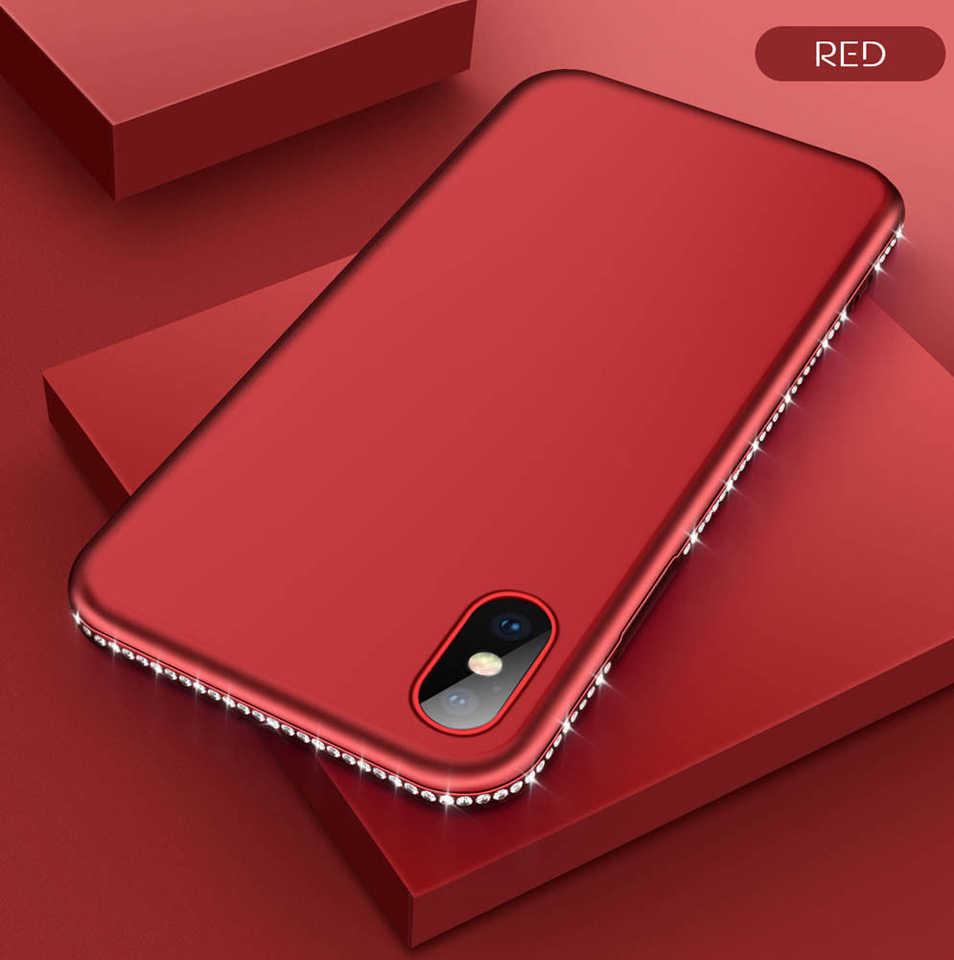 Diamond Case for iphone X 6S 8 Plus XR XS MAX Glitter Bumper TPU Huawei P20 P30 Pro Mate 20 10 Lite Nova 3 Honor 9 Lite 8X 7X 7C