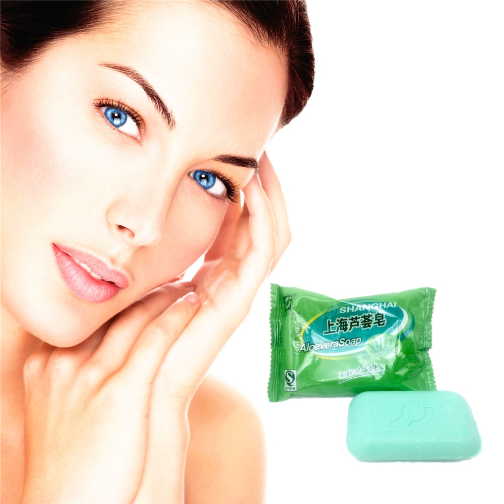 1PCS Natural Active Enzyme  Body Skin Whitening ALOEVERA Soap For Private Parts Fade Areola