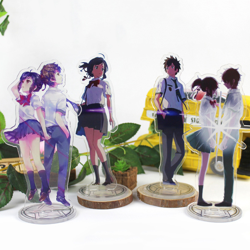 Anime Kimi No Na Wa Display Stand Figure Model Plate Japanese Cartoon Your Name Tachibana Taki Miyamizu Mitsuha Stand Holder