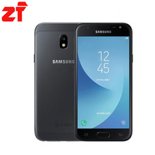 """Новый оригинальный Samsung Galaxy J3 2017 J3300 разблокирована 5.0 """"Dual SIM отпечатков пальцев 13.0MP Snapdragon 4 ядра LTE смартфон с NFC"""