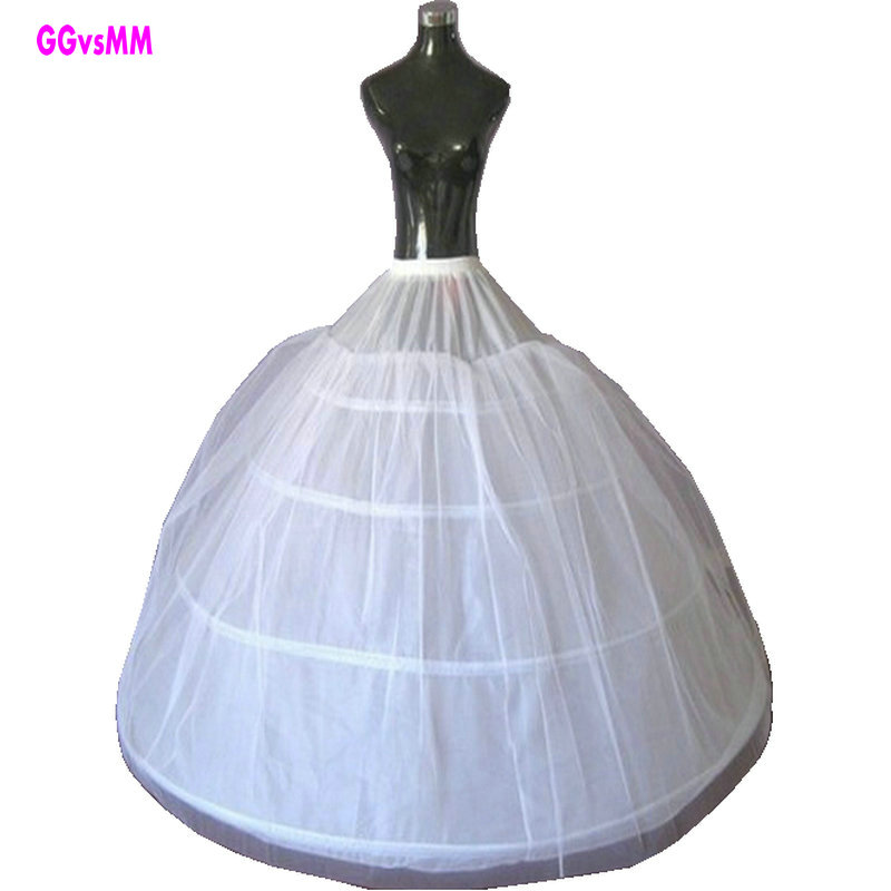 Cheap Wedding Dress Petticoat 2017 Fast Shipping White 4 Hoop Petticoat Wedding Gowns Crinoline Accessories Underskirt
