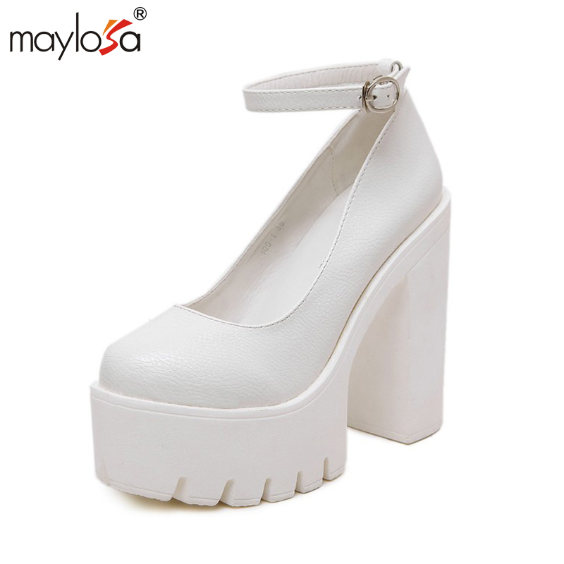 White Platform Heels Promotion-Shop for Promotional White Platform ...