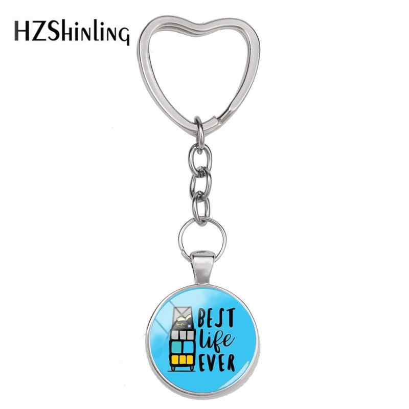 fa40ce54e 2018 New Best Life Ever Keyring JW Org Heart Key Chain Hand Craft Jewelry  Glass Dome