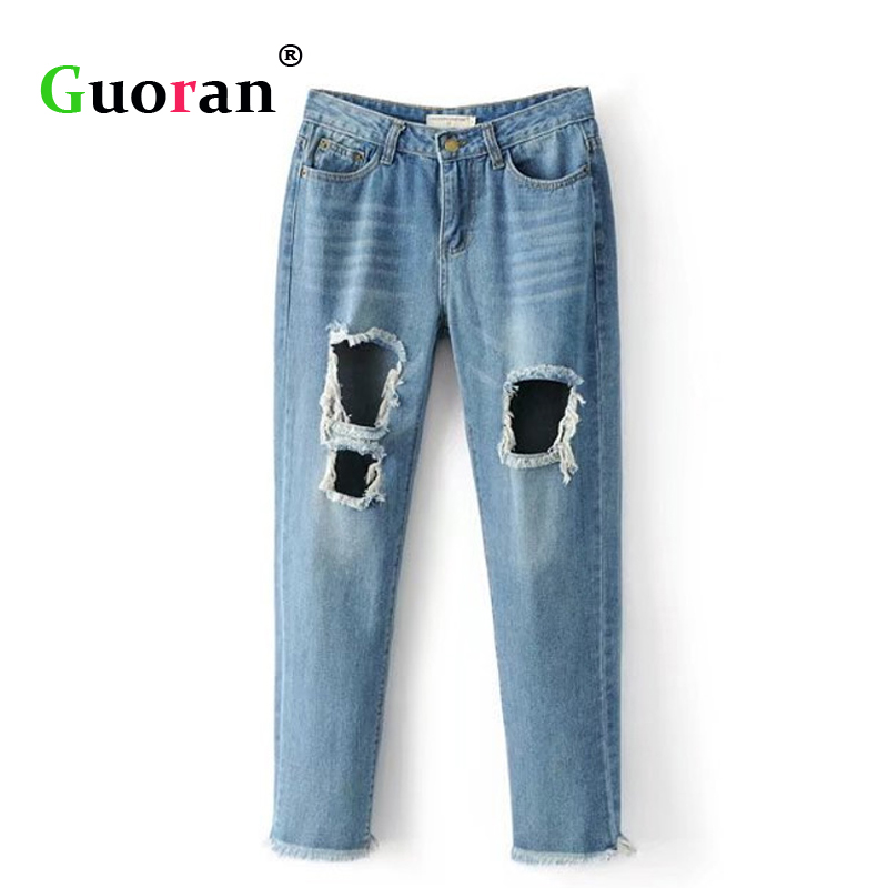 Online Get Cheap Women Destroyed Jeans -Aliexpress.com | Alibaba Group