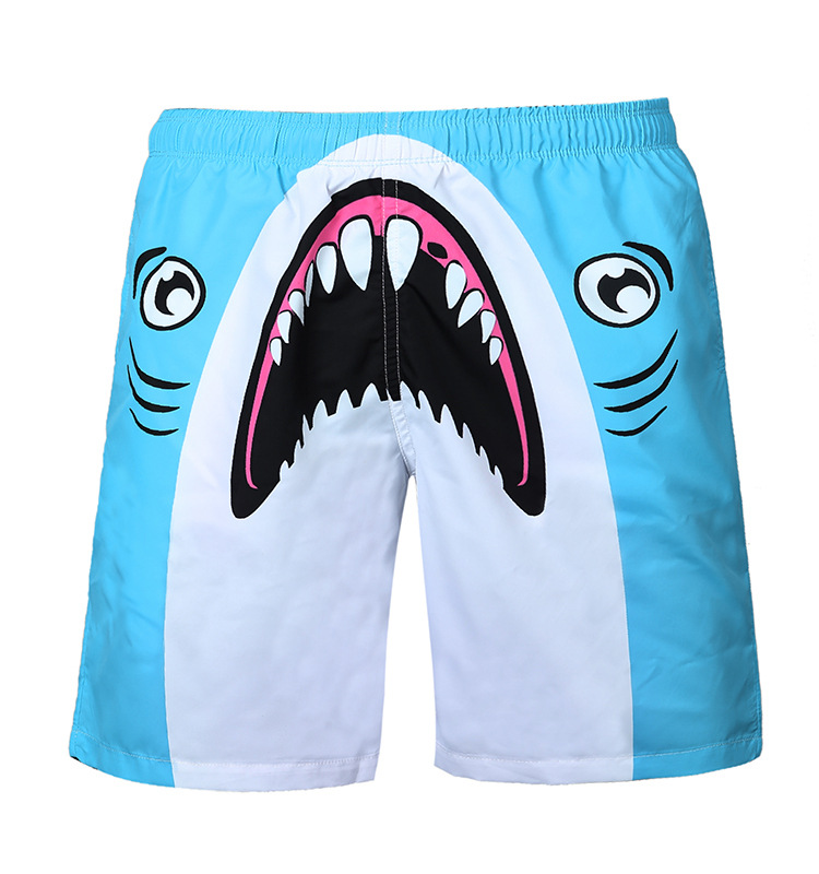 New Summer Casual Shorts Men Sharks 3D Printed Short Pants Youth Sky Blue Shorts Homme Beachwear Board Shorts Men Clothes 2018