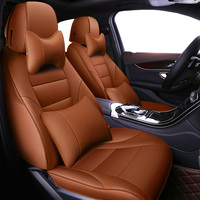 Auto Universal Cowhide leather seat cover For Toyota Corolla Camry Rav4 Auris Prius Yalis Avensis SUV auto accessories styling