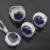 Atractivo Azul Piedra Zirconia 925 de Plata Esterlina de Las Mujeres Juegos de Joyería Pendientes/Colgante/Collar/Anillos Envío Gratis QS026