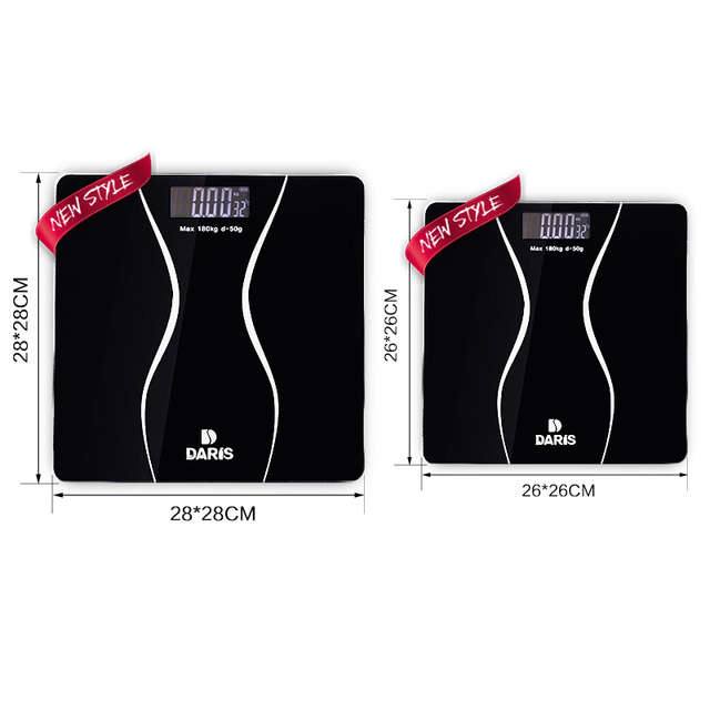 Electronic Scales Floor Body Digital Weight Bathroom Scale Smart Body Health Balance Household Glass LCD Display 180KG/50G