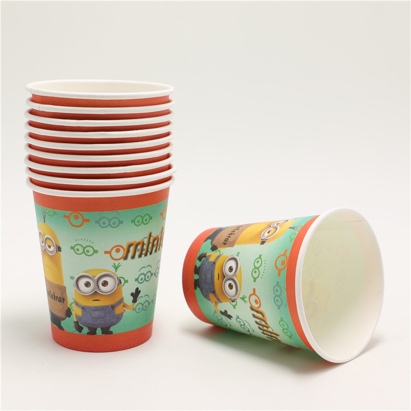 Despicable Me 2 Minions Party Decoration Set Paper Cups+ Plates+ Napkins for Kids Birthday Party set boy for 12 people-in Disposable Party Tableware from ... & Despicable Me 2 Minions Party Decoration Set Paper Cups+ Plates+ ...