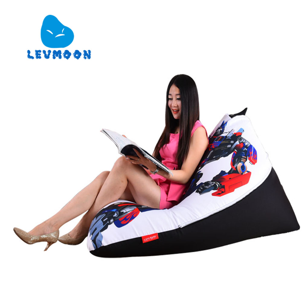 LEVMOON Beanbag Sofa Chair Transformers Seat zac Comfort Bean Bag Bed Cover Without Filler Cotton Indoor Beanbag Lounge Chair levmoon beanbag sofa chair v star seat zac comfort bean bag bed cover without filler cotton indoor beanbag lounge chair