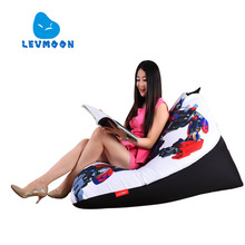 LEVMOON Beanbag Sofa Chair Transformers Seat zac Comfort Bean Bag Bed Cover Without Filler Cotton Indoor Beanbag Lounge Chair