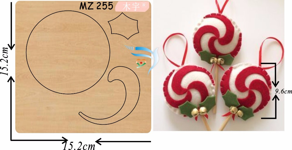 Christmas pendant new wooden mould cutting dies for scrapbooking Thickness 15 8mm
