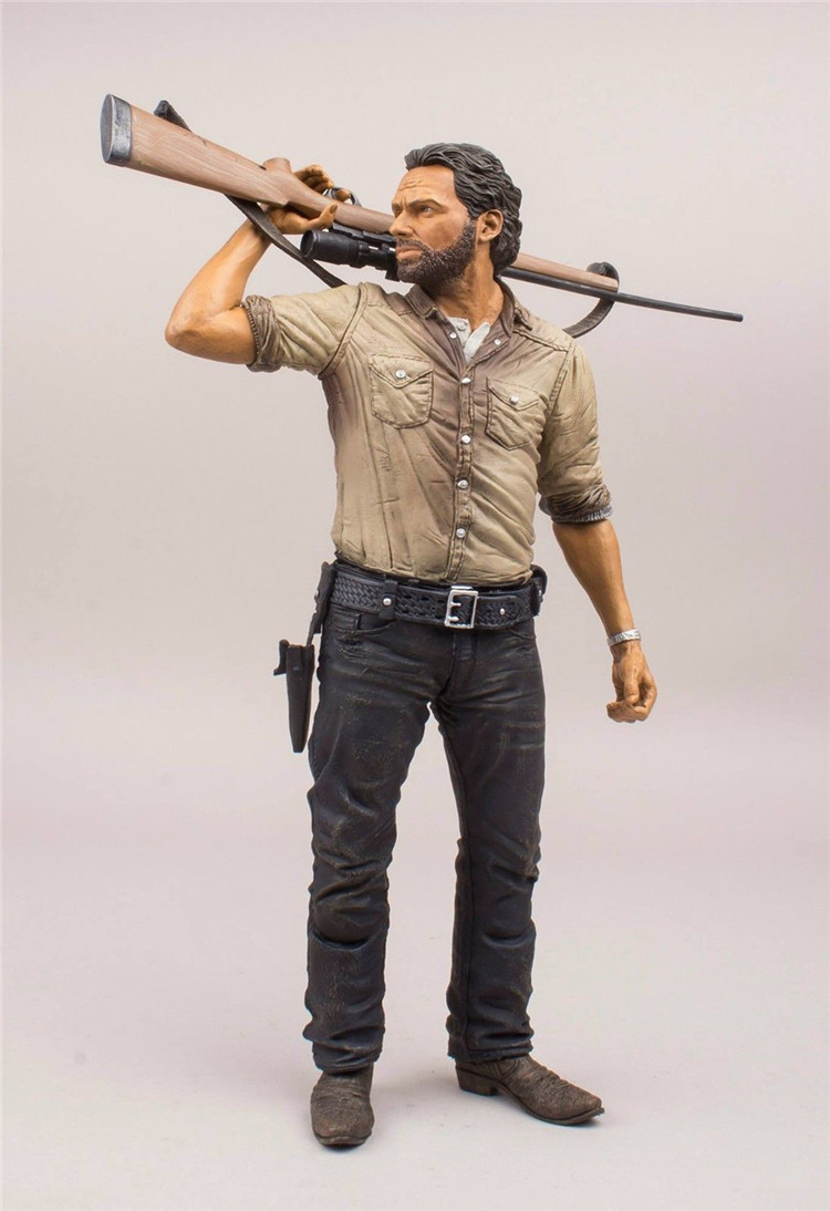 The Walking Dead Rick Grimes Action Figure 1/7 scale painted figure Deluxe Ver. Sheriff Rick PVC figure Toy Brinquedos Anime shining blade sakuya action figure 1 7 scale painted figure swimsuit ver sakuya pvc figure toy anime