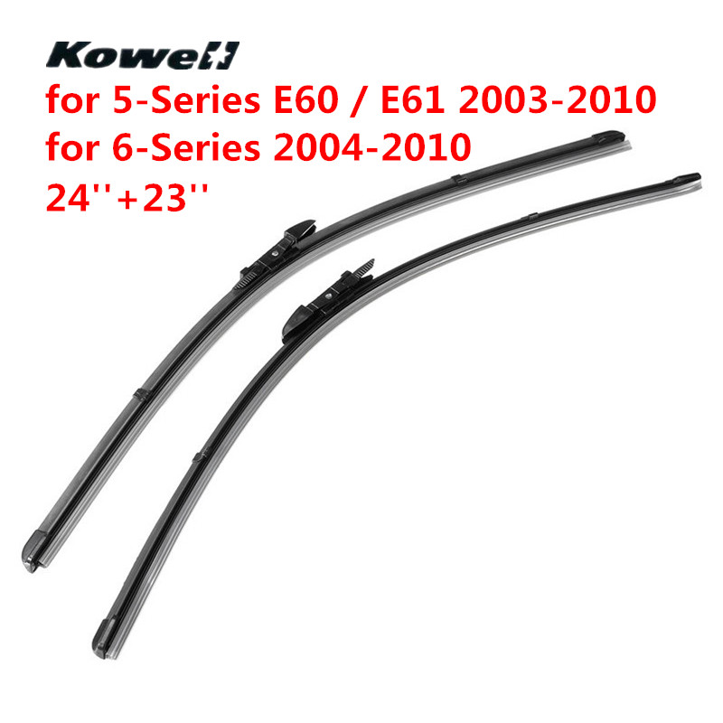KOWELL Front Windshield Wiper Blades Refill Brushes for Car Janitors Windscreen Washer for BMW 5-Series E60 E61 03-10 / 6-Series цена