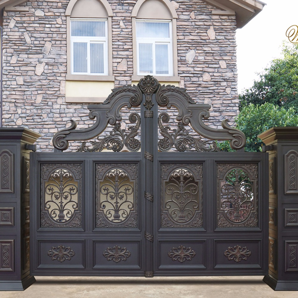 American Design Decorative Aluminium Beautiful Iron Gate Designs Hc-a6
