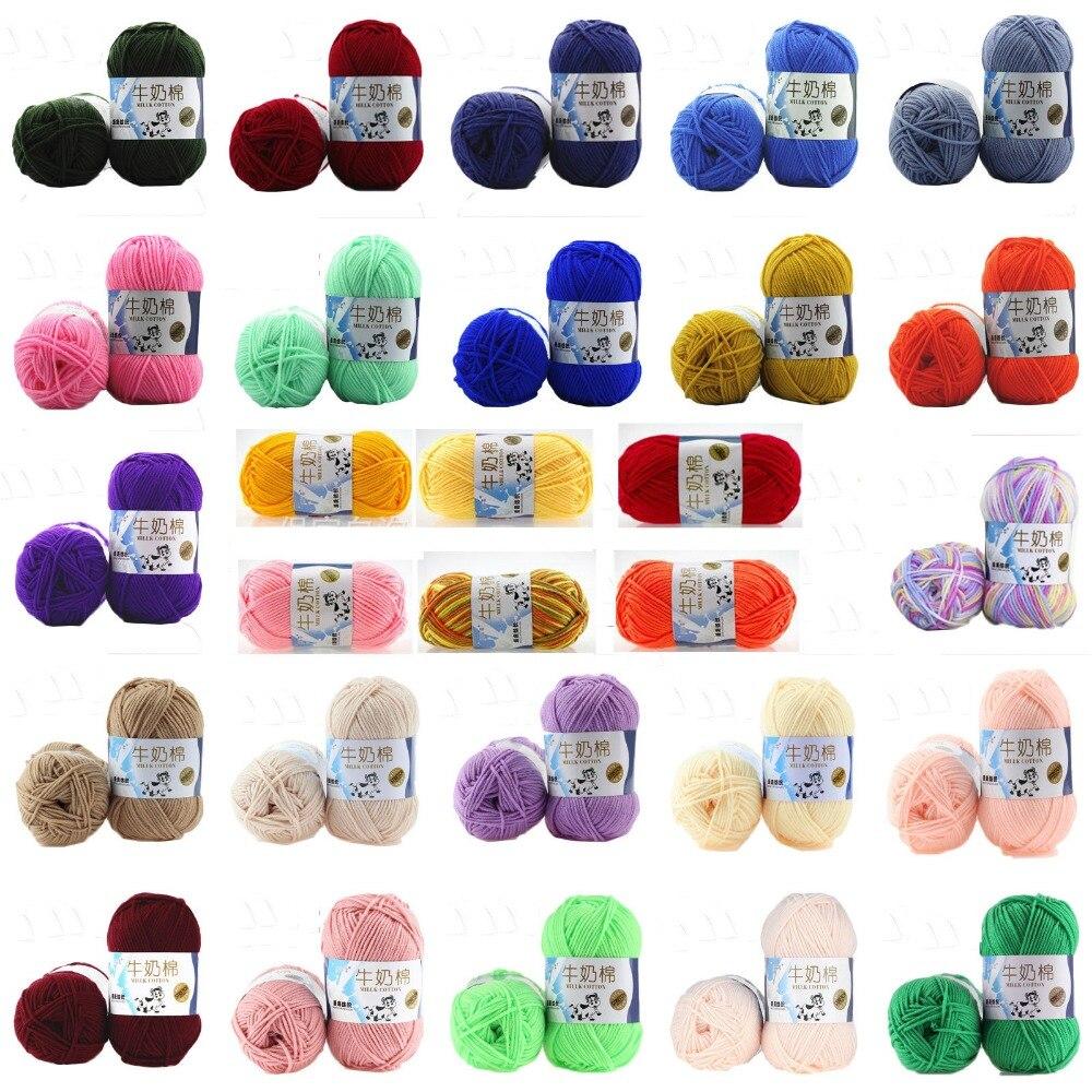 50g Milk Sweet Soft Cotton Baby Knitting Wool Yarn Milk Cotton Thick Yarn For Knitting Scarf Hand Knitting Crochet Yarn