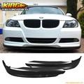 Fit BMW E90 05-08 328 325 335 3-Series PP Front Bumper Lip Spoiler Splitter