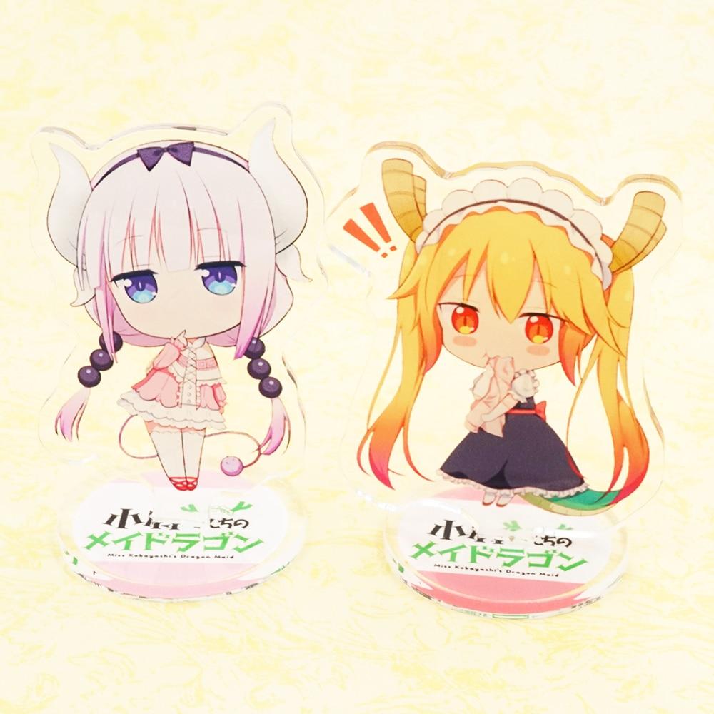 Miss Kobayashi's Dragon Maid Anime Kobayashi-san Chi no Meidoragon Tohru Kanna Kamui Double Side Acrylic Stand мел kamui kamui 1 21 alpha 1шт